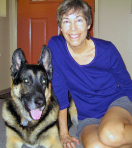 Deb and her dog Chaco